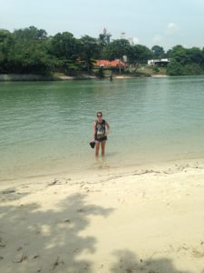 Me at Changi beach. The water felt great!