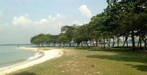 Changi beach. We took a stroll here after we got back from the island.