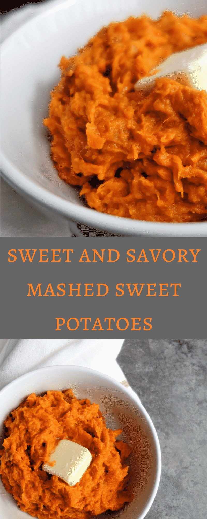 The Most Amazing Sweet and Savory Mashed Sweet Potatoes