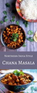 Northern India styel Chana Masala (Indian curried chickpeas)