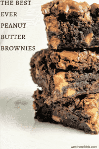 The Best and Easiest Peanut Butter Brownies