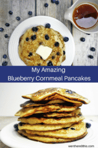 Delicious Blueberry Cornmeal Pancakes with Lemon Syrup