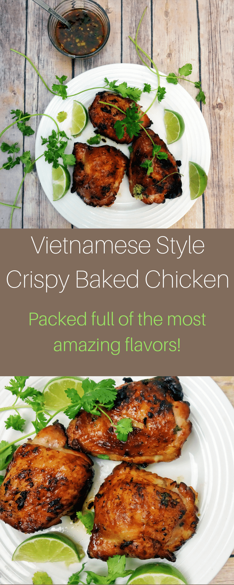 This Vietnamese style baked chicken with crispy skin is packed full of flavor and super simple to make!vietnamese chicken   fish sauce chicken   crispy baked chicken   easy Vietnamese recipe   chicken recipes   best chicken recipes   easy Vietnamese chicken   garlic chicken   crispy baked garlic chicken