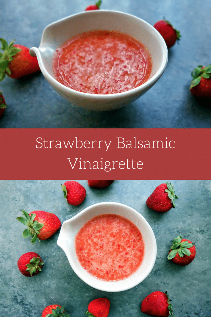 Learn how to make Strawberry Balsamic Vinaigrette salad dressing right at home with this quick, easy, fresh and healthy recipe!