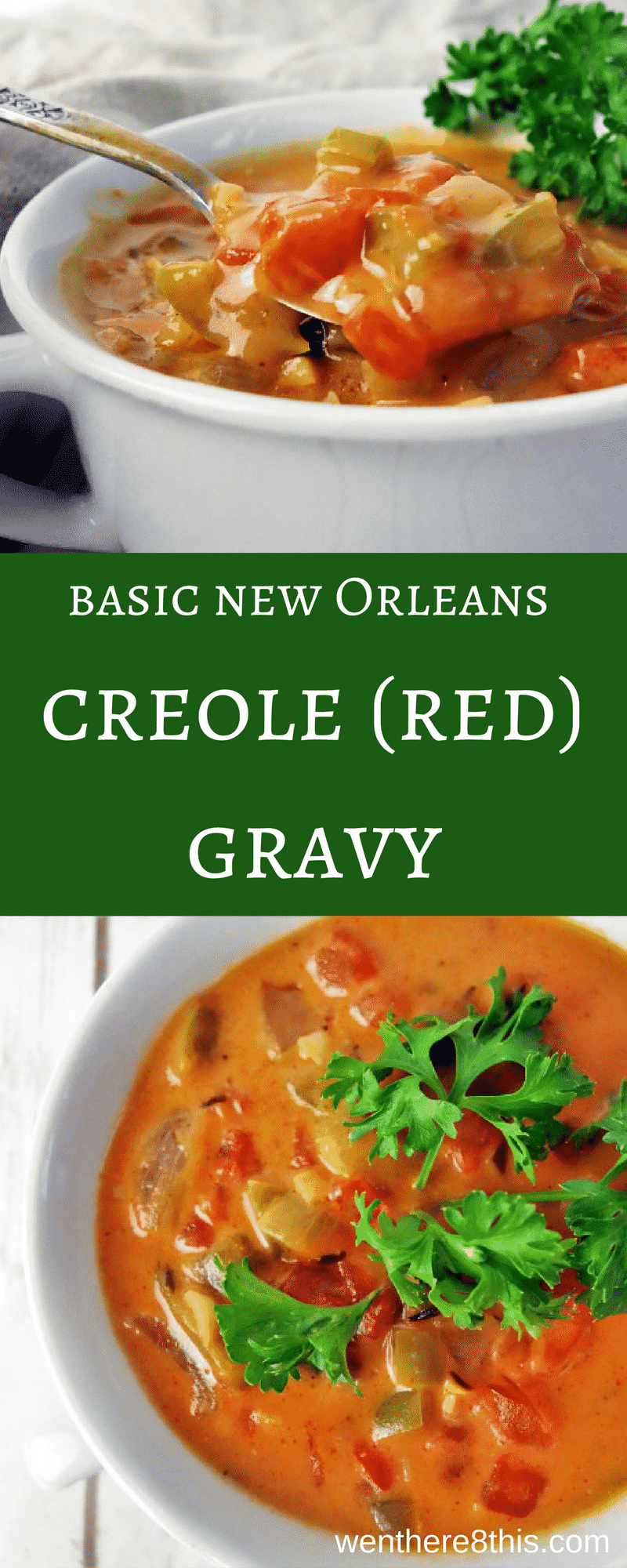 Learn how to make this basic New Orleans Creole (Red) Gravy with spicy Cajun seasoning, garlic, butter and cream. Super easy to make in less than 30 minutes. louisiana red gravy, red gravy recipe, spicy Louisiana gravy easy, Cajun red gravy recipe, Cajun red gravy easy, creole gravy recipe, Cajun recipes, creole recipes, southern gravy recipe, southern gravy easy, new Orleans red gravy, red gravy recipe new Orleans easy