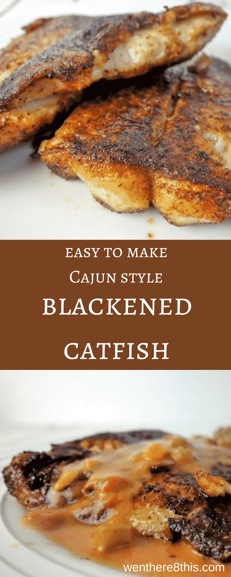 This easy to make Cajun style blackened catfish is seasoned with spicy blackened seasoning and fried in butter, this catfish melts in your mouth!blackened catfish recipe, catfish recipe, blackened catfish easy, fried catfish recipe, fried catfish easy, butter catfish, new Orleans catfish, creole catfish, Cajun catfish, Cajun blackened catfish recipe, Cajun recipes, southern catfish