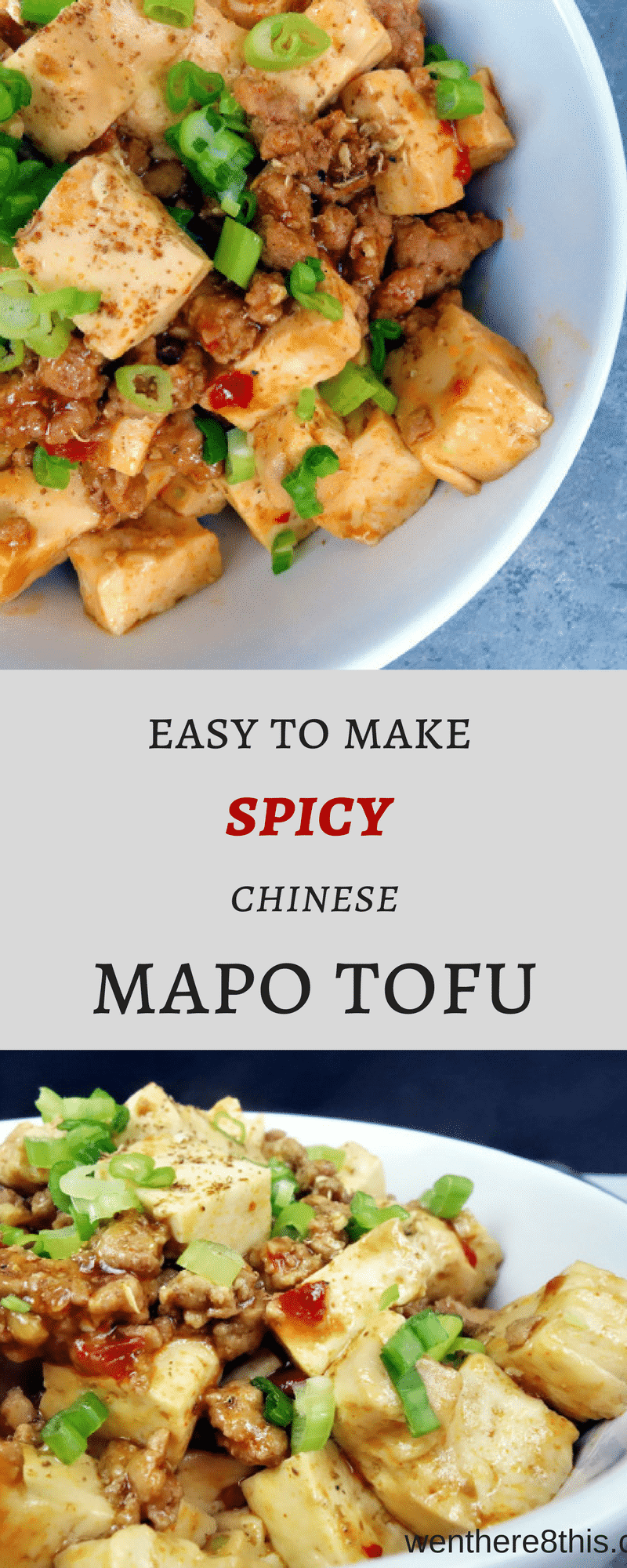 This easy to make spicy Chinese Mapo Tofu is packed full of delicious umami flavor! Cubed tofu in a thick, spicy umami sauce with ground pork...YUM. mapo tofu recipe, chinese mapo tofu easy, tofu recipe, tofu and pork recipe, Sichuan recipes, pf changs, Chinese recipes, spicy mapo tofu, spicy Chinese recipe, easy Chinese recipes, mapo tofu easy