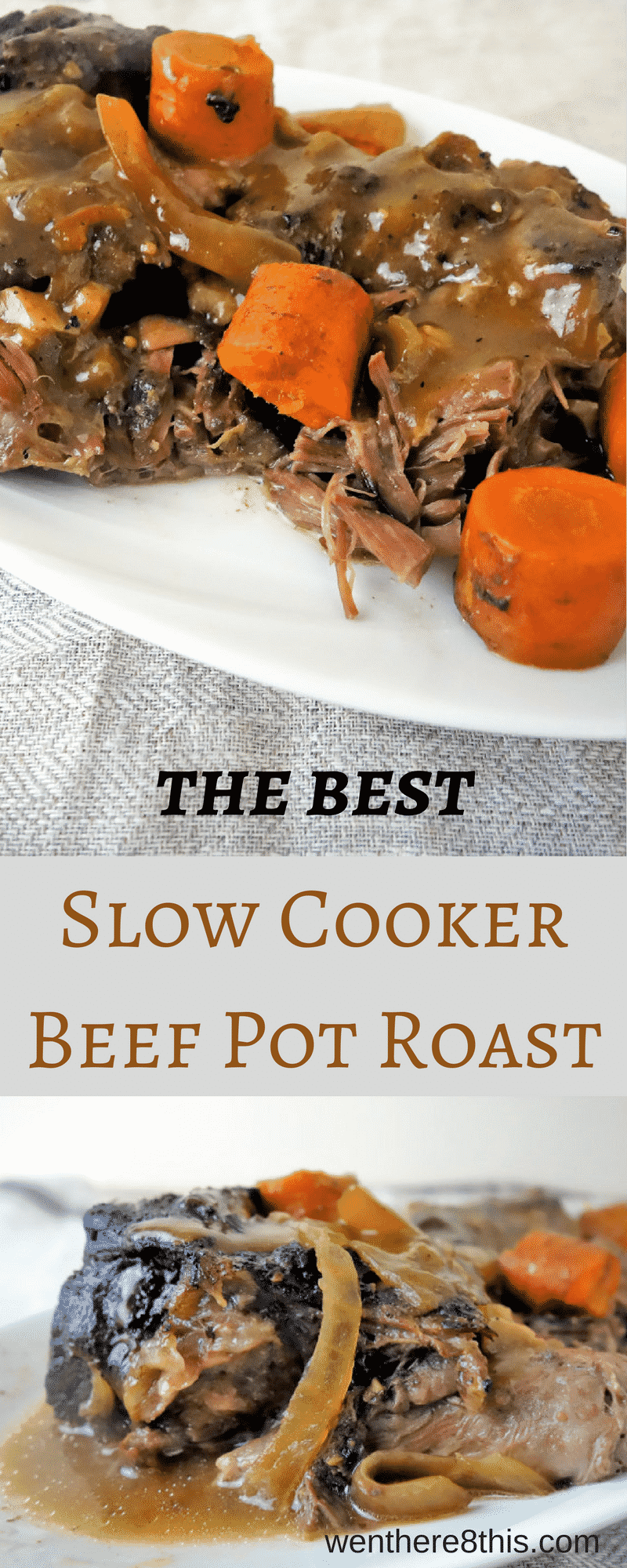 Learn how to make the best slow cooker beef pot roast - it's so incredibly easy, especially after a long hard day at work when you don't feel like cooking!beef pot roast recipe, slow cooker recipes, easy slow cooker beef, pot roast easy, pot roast recipe, beef recipes, slow cooker pot roast recipe, slow cooker pot roast easy, pot roast easy recipe, comfort food recipes, crockpot pot roast recipe, pioneer woman perfect pot roast, best pot roast recipe, fall apart pot roast