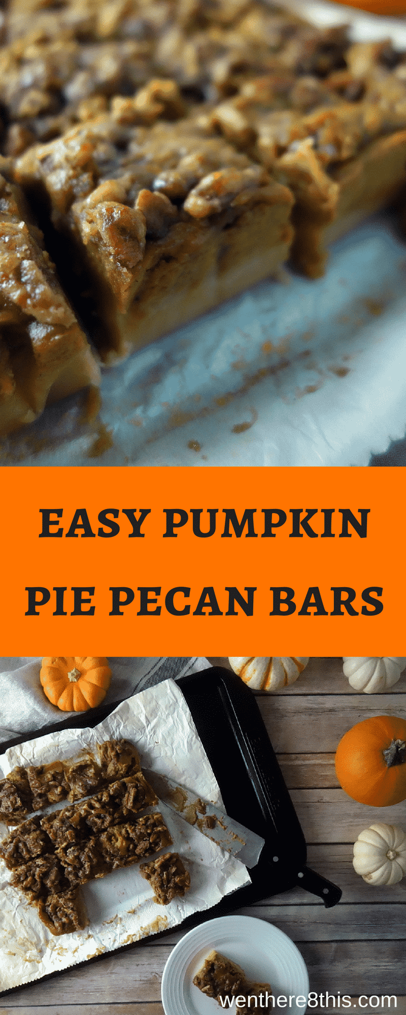 Rich, creamy EASY Pumpkin Pie Pecan Bars. Guys, these things are the best. Seriously, I was never a fan of pumpkin pie until now!pumpkin pie | shortbread crust easy | pumpkin pie bars easy | pumpkin pecan bars | pecan pumpkin pie recipe | homemade pumpkin pie bars | Pumpkin streusel bars | pumpkin pecan pie bars | easy pumpkin bars