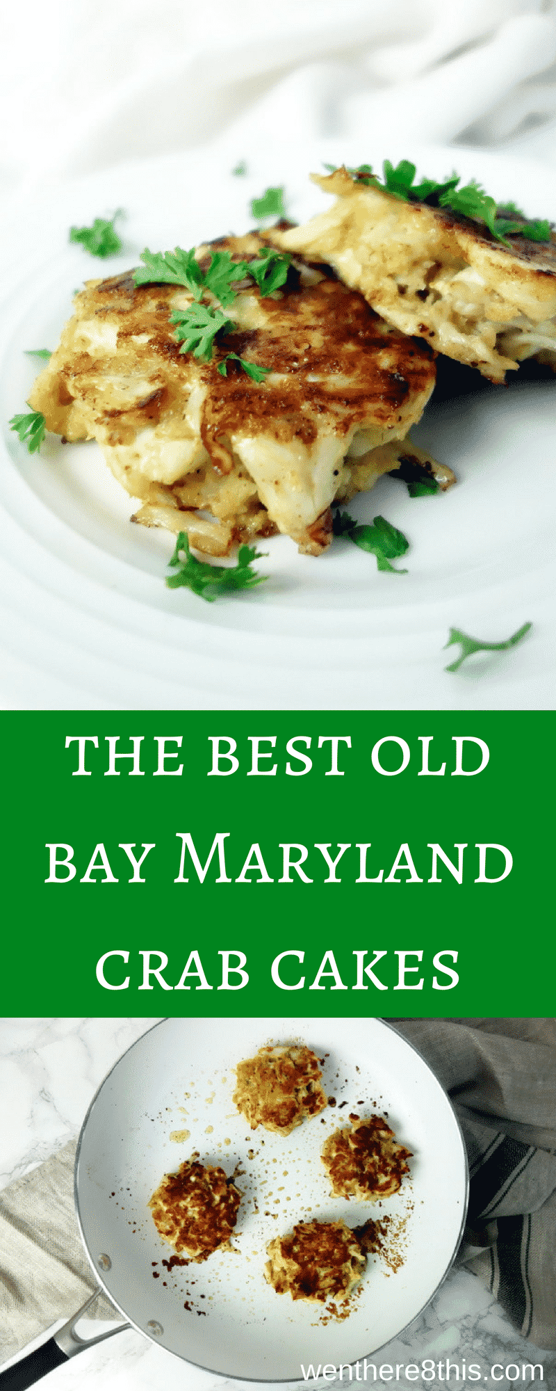These Old Bay Maryland Crab Cakes are made with big chunks of lump crab, a healthy amount of Old Bay seasoning, and fried in butter - YUM!easy crab cakes | lump crab cakes | crab recipes | crab and butter | old bay crab | Maryland crab cakes | jumbo lump crab cakes | best crab cakes | southern crab cakes | east coast crab cakes | seafood recipes