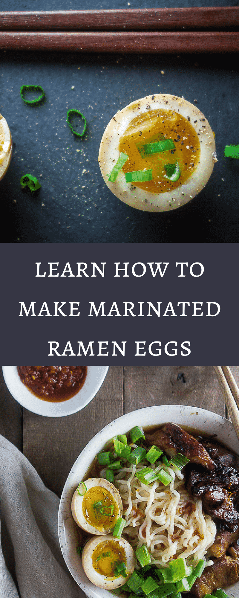 Learn how to make marinated ramen eggs with that gooey yolky center and delicious umami flavor. Perfect for that bowl of ramen, or just as a snack!ramen egg recipe | marinated soy sauce eggs | how to make ramen eggs | how to soft boil eggs | easy ramen eggs | japanese ramen eggs | japanese soy sauce eggs | ajitsuke tamago | healthy eggs | shoyu tamago