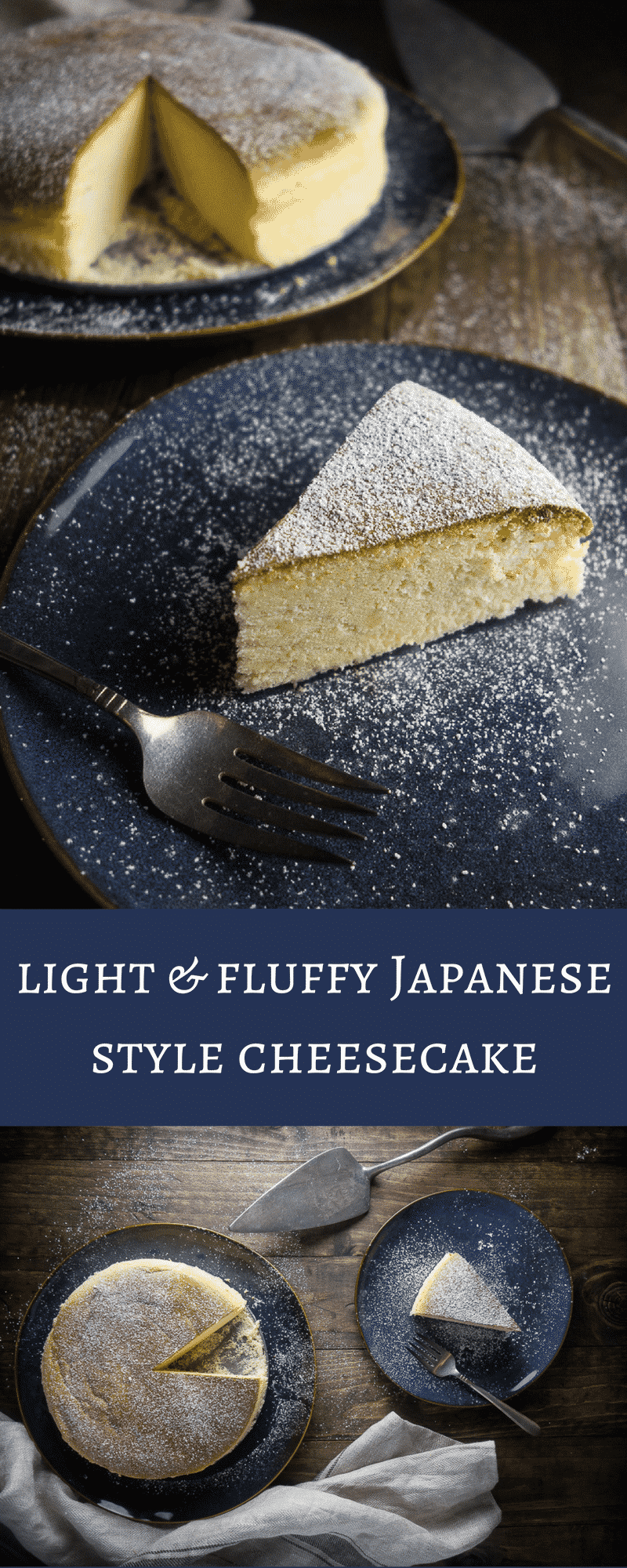This light & fluffy Japanese style cheesecake (or soufflé cheesecake) will totally melt in your mouth - perfect for that cheesecake lover in your life!japanese cheesecake recipe | soft fluffy Japanese cheesecake | Japanese desserts | Japanese recipes | soufflé cheesecake | airy Japanese cheesecake | Japanese cotton cheesecake | creamy Japanese cheesecake | best cheesecake