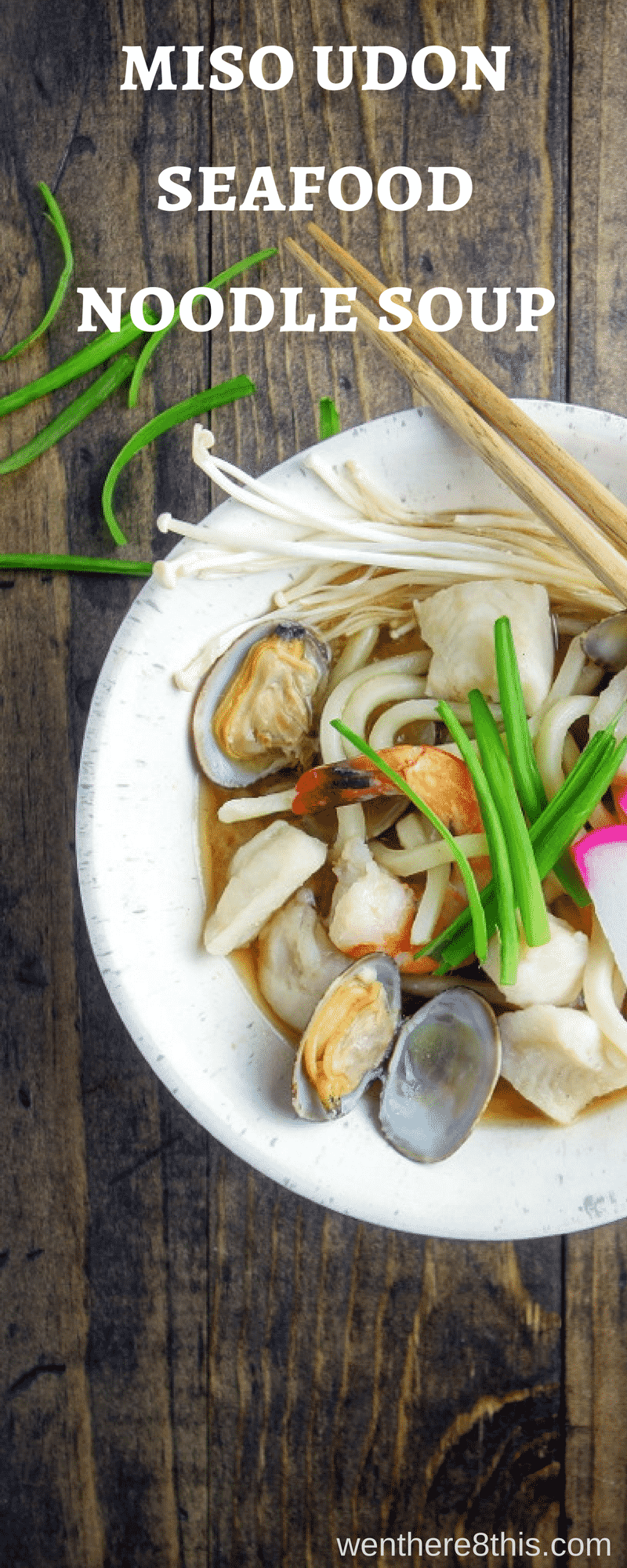 This Miso Udon Seafood Noodle Soup is a great way to start the New Year with amazing umami flavor, fresh seafood and a light, delicious broth!miso soup | udon noodle soup | japanese soup recipes | japanese recipes | noodle soup recipes | seafood stew | ramen noodles | soba noodles | easy udon noodle soup | japanese noodle soup | winter soup recipes | easy soup recipes