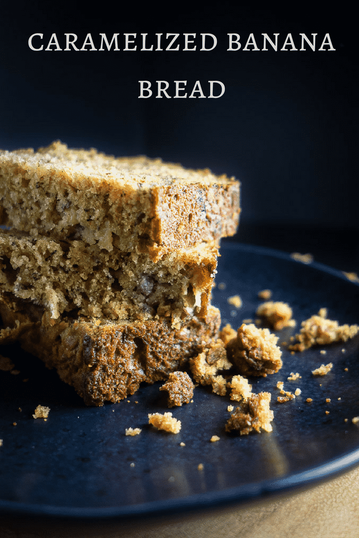 This easy caramelized banana bread is packed full of ripe bananas and made with brown sugar for that caramelized flavor. Takes less than 1 hour from start to ready-to-eat!moist banana bread | best banana bread | quick banana bread | classic banana bread | cinnamon banana bread | paleo banana bread } healthy banana bread | brown sugar banana bread | simple banana bread | buttermilk banana bread