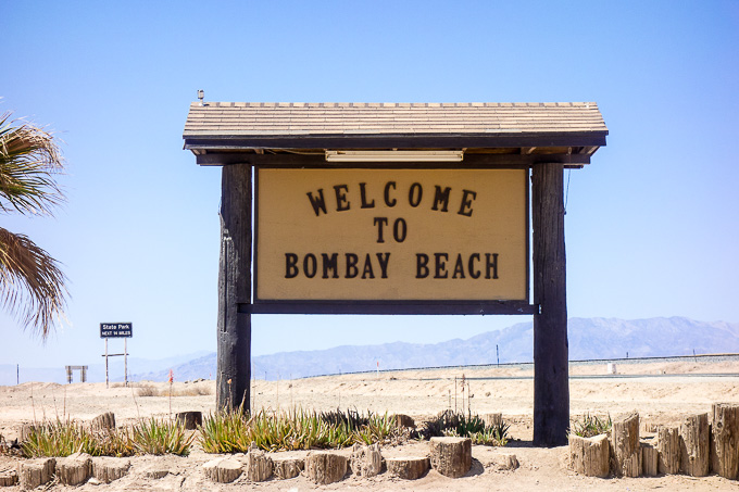 sign welcome to bombay beach