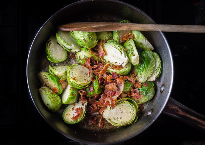 cooking brussels sprouts with bacon