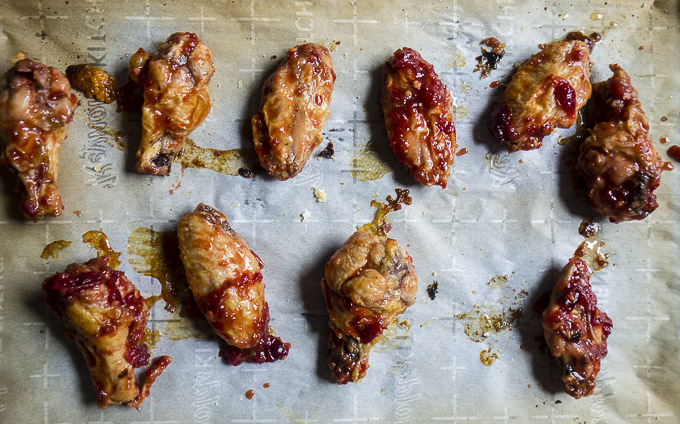 cranberry glazed chicken wings