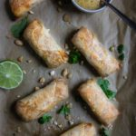 Chicken Pad Thai Baked Egg Rolls