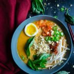 Instant Pot Thai Red Curry Ramen with Caramelized Pork