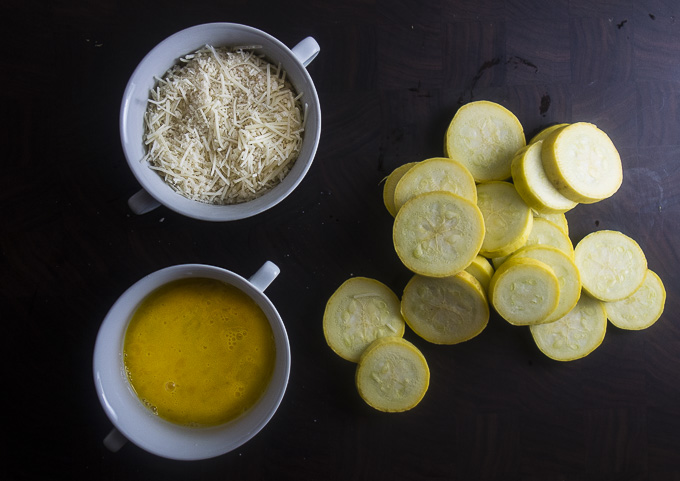 ingredients for oven fried summer squash
