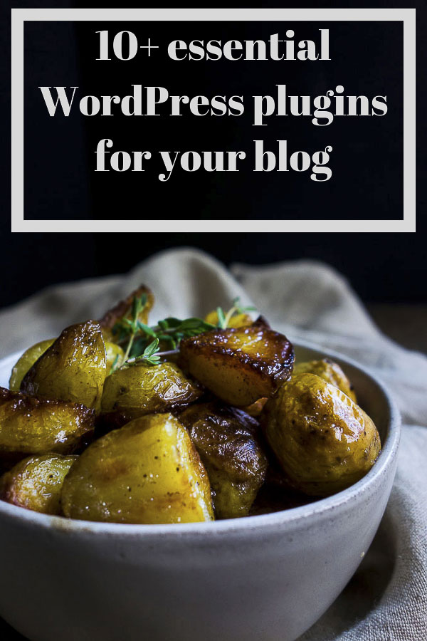 With the thousands of WordPress blog plugins out there, it is sometimes hard to narrow down which ones you need when starting out. These ten essential WordPress plugins for bloggers are all you need to get up and running. These 10 essential plugins are the best WordPress plugins for food bloggers and are a total must-have for your food blog! #wordpressplugins #startablog #blogbusiness #foodblogging #howtoblog #wordpresstips #wordpressbloggers